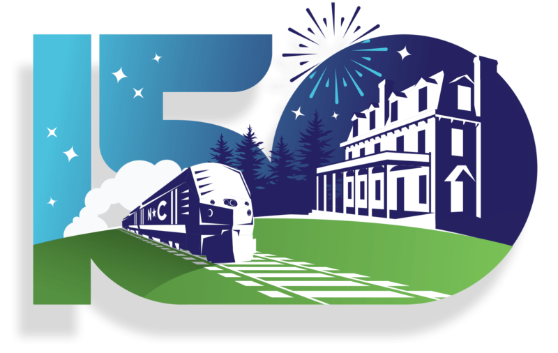 Logo for Town of Cary's 150th anniversary celebration