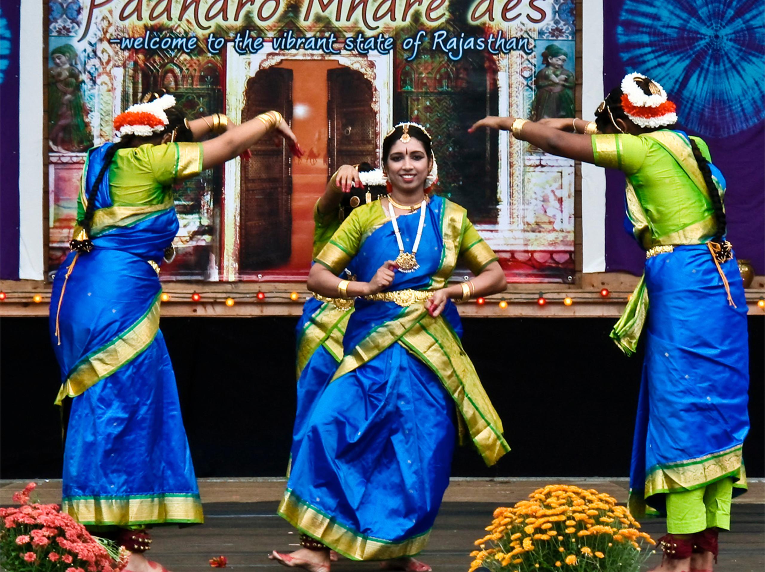 Photo of a Cary Diwali celebration dance performance.