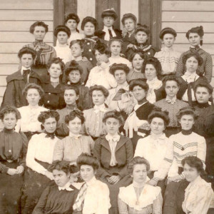 Photo of female students in Cary, NC. Photo circa 1890.